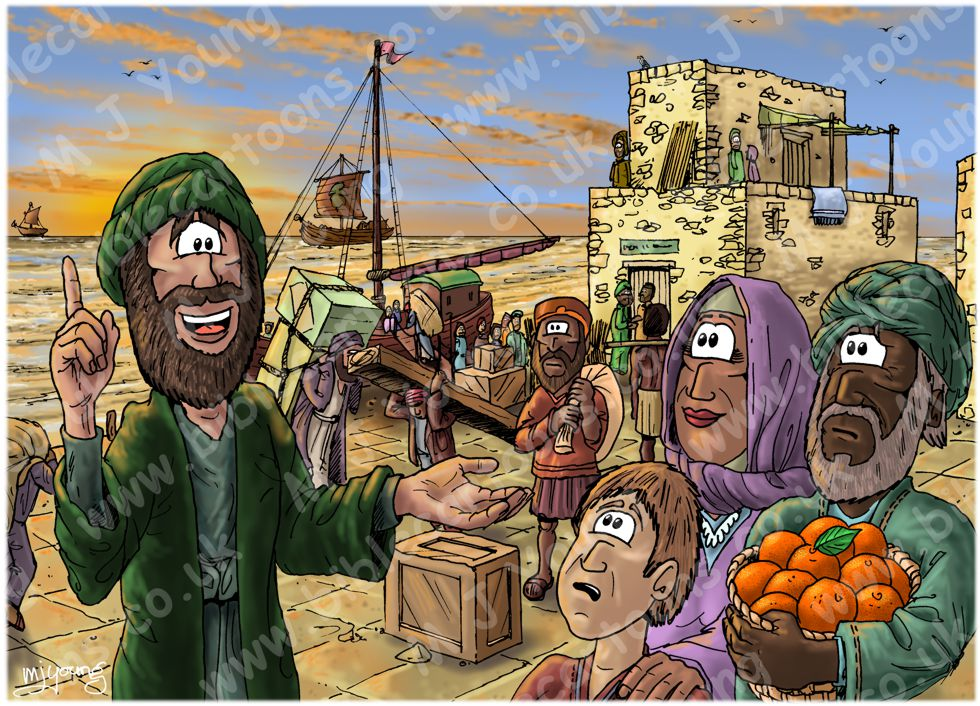 Acts 08 - Philip and the Ethiopian eunuch - Scene 06 - In Azotus