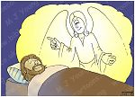 Matthew 01 - The Nativity - Scene 02 - Joseph & Angel
