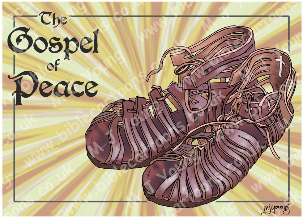 Ephesians 06 - Armour of God - Gospel of Peace (Yellow) 980x706px.jpg