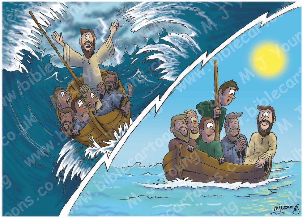 Matthew 08 - Jesus calms storm