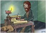 Luke 01 - The Nativity - Births foretold - Scene 01 - Luke writing