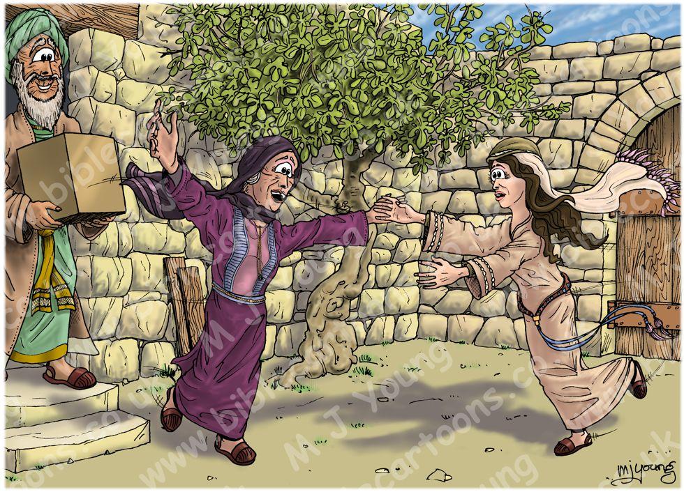 Luke 01 - Births foretold - Scene 10 - Mary's greeting