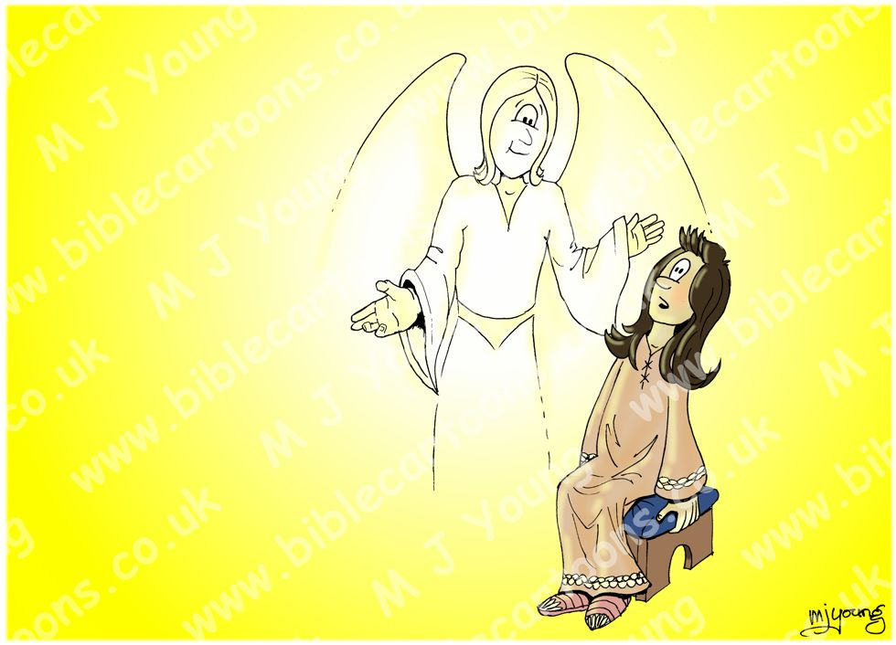 Luke 01 - The Nativity - Births foretold - Scene 07 - Angel Gabriel & Mary
