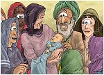 Luke 01 - The Nativity - Births foretold - Scene 12 - John the Baptist Born