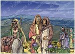 Luke 02 - Nativity SET02 - Scene 01 - Walking to Bethlehem (Dark version)