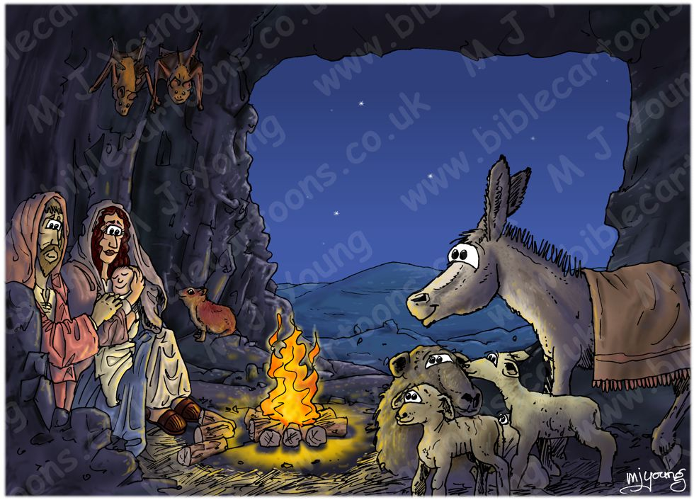 Luke 02 - Nativity SET02 - Scene 02 - Stable (Inside cave version)
