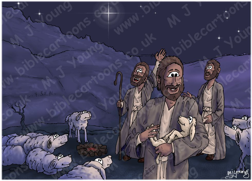 Luke 02 - Nativity SET01 - Scene 10 - Shepherds return