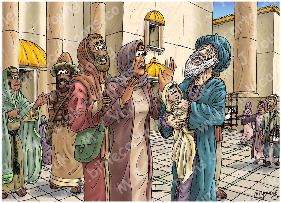 Luke 02 - Prophecies about Jesus - Scene 03 - Simeon's blessing 980x706px col
