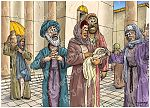 Luke 02 - Prophecies about Jesus - Scene 04 - Anna praises God 980x706px col