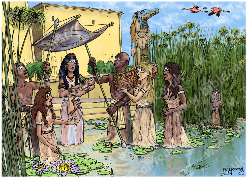 Exodus 02 - Birth of Moses - Scene 02 - Pharaoh's daughter