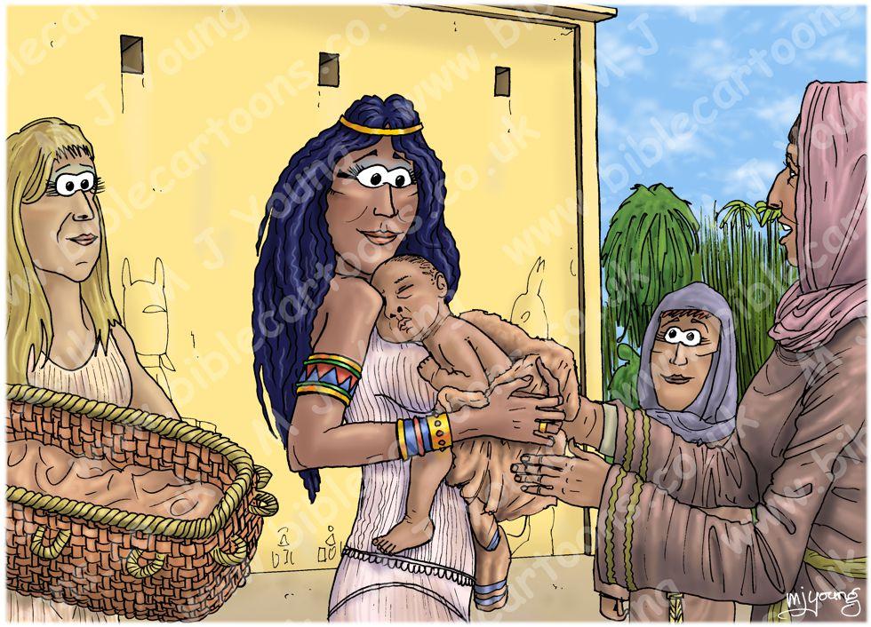 Exodus 02 - Birth of Moses - Scene 03 - Moses nursed