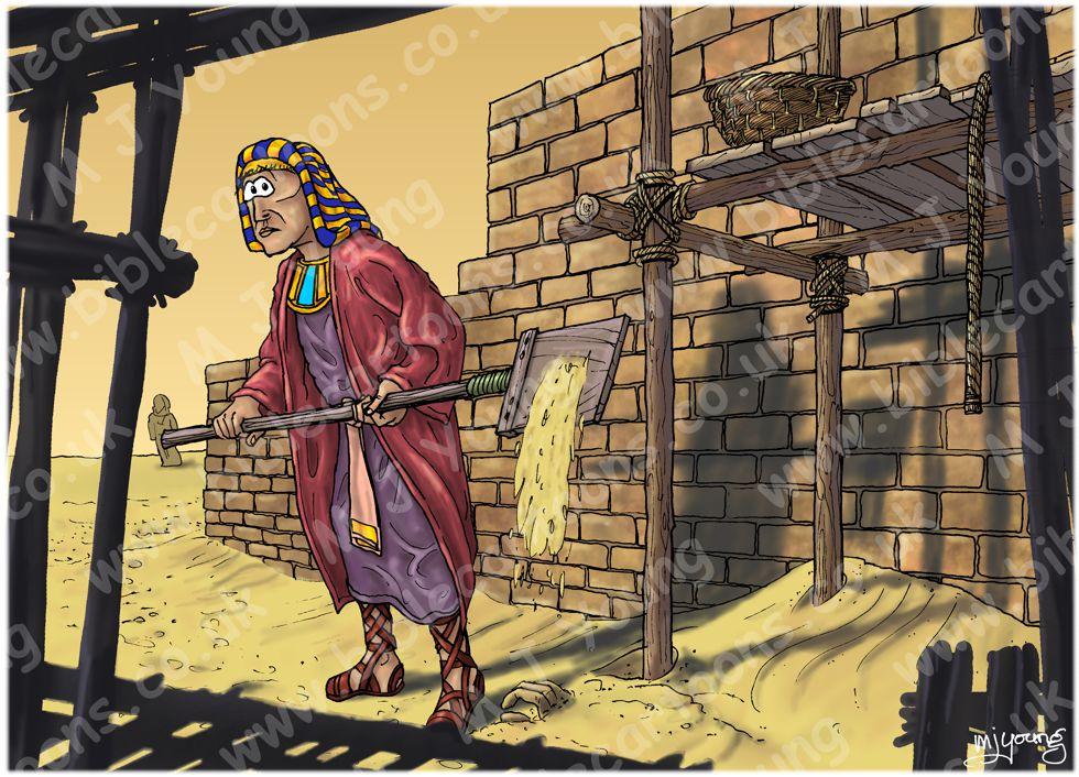 Exodus 02 - Moses murders - Scene 02 - Moses kills Egyptian