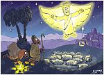 Luke 02 - Nativity SET01 - Scene 04 - Shepherds & Angel (Version 01)