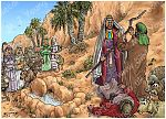 Exodus 02 - Moses flees to Midian - Scene 03 - Moses by well
