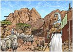 Exodus 02 - Moses flees to Midian - Scene 04 - Moses marries 980x706px col