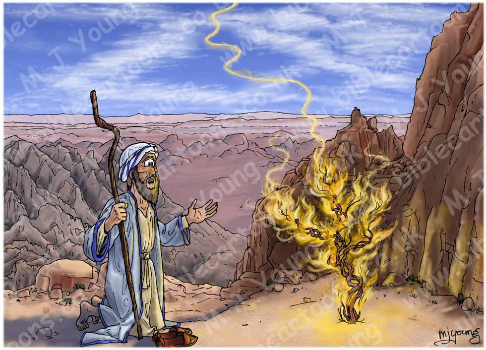 Exodus 03 - Burning Bush - Scene 02 - God calls to Moses