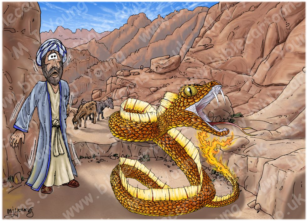 Free Bible Coloring Page - Moses and the Snake | Bible lessons ... | 706x980