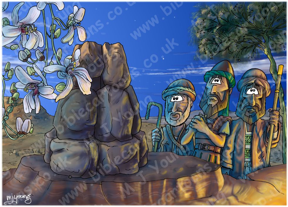 Joshua 04 - Jordan crossing - Scene 07 - 12 stone monument (Blue version)