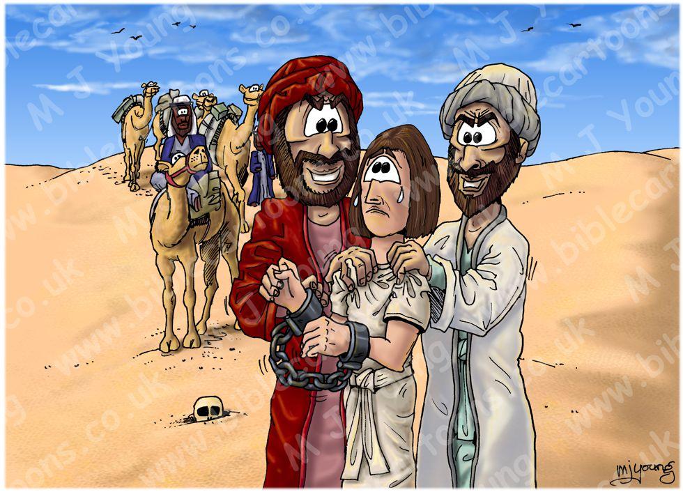 Genesis 37 - Joseph sold into slavery - Scene 04 - Joseph Sold
