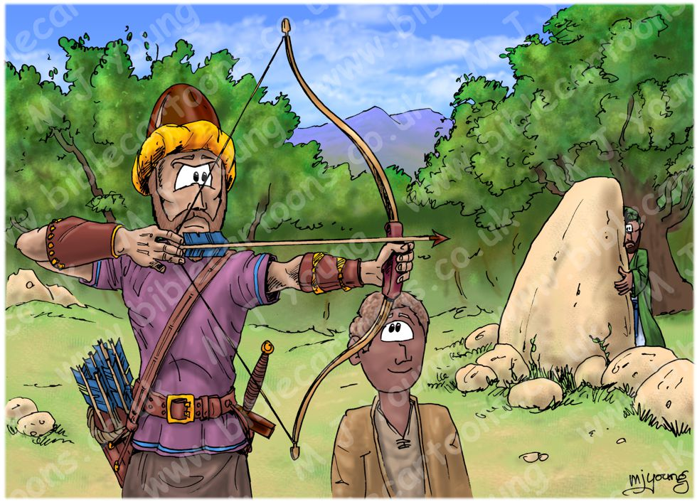 1 Samuel 20 - Jonathan helps David - Scene 06 - Archery signal
