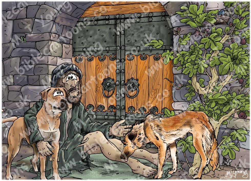 Luke 16 - Rich man and Lazarus - Scene 02 - Poverty (Blue version)