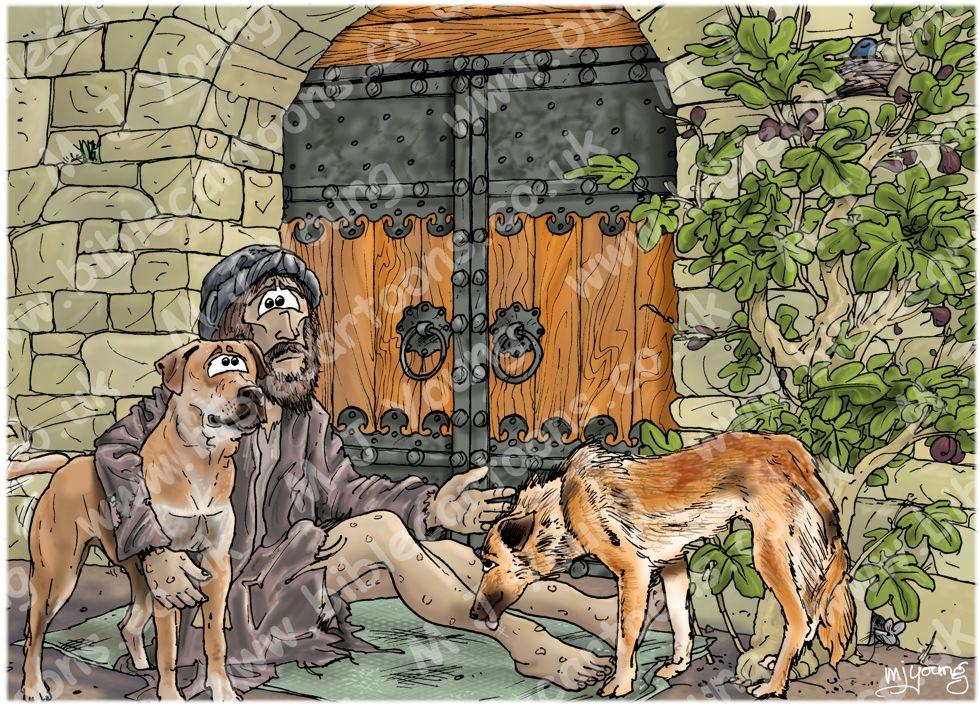 Luke 16 - Rich man and Lazarus - Scene 02 - Poverty (Pale version)