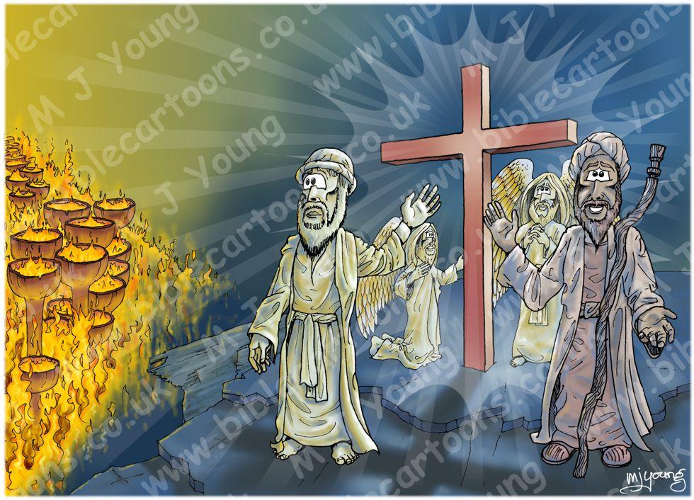Luke 16 - Rich man and Lazarus - Scene 07 - The Cross (Blue version)