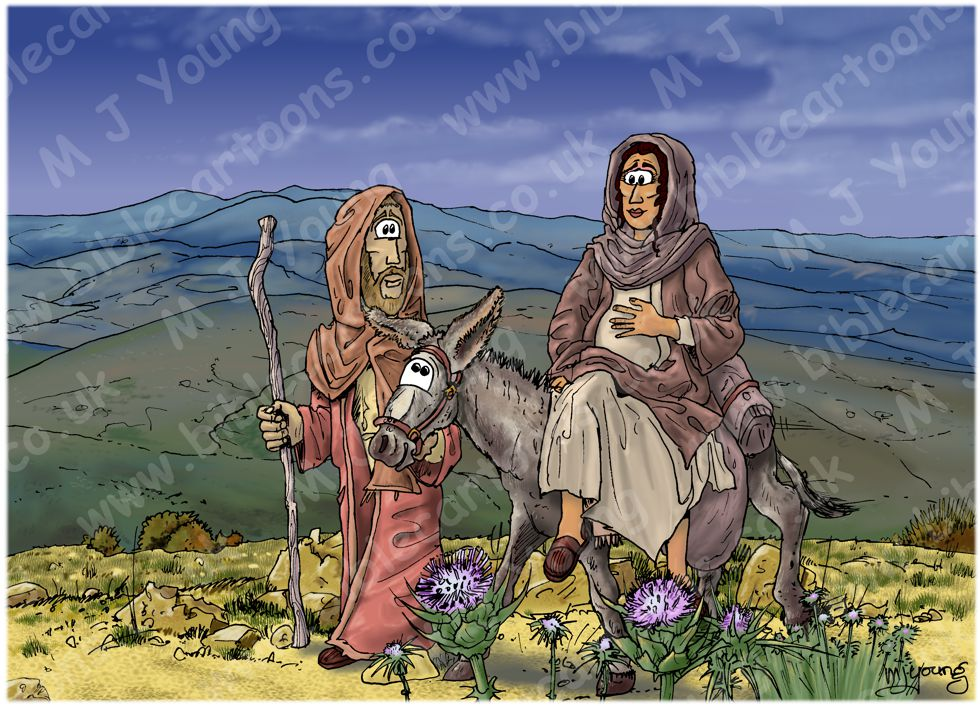 Luke 02 - Nativity SET02 - Scene 01 - Riding to Bethlehem (Dark version)