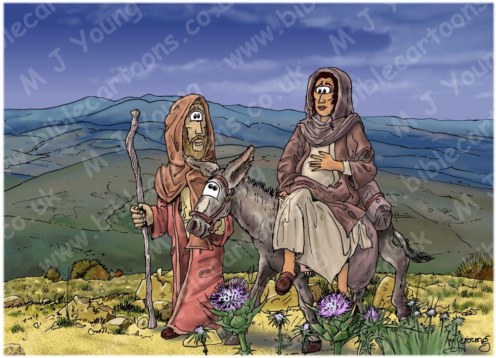 Luke 02 - Nativity SET02 - Scene 01 - Riding to Bethlehem (Dark version)