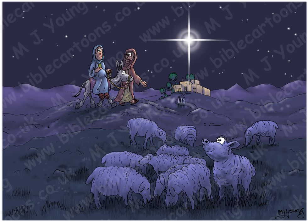 Luke 02 - Nativity SET01- Scene 01 - Almost unnoticed travellers
