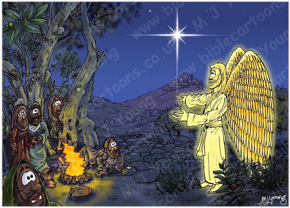 Luke 02 - Nativity SET02 - Scene 04 - Angelic announcement
