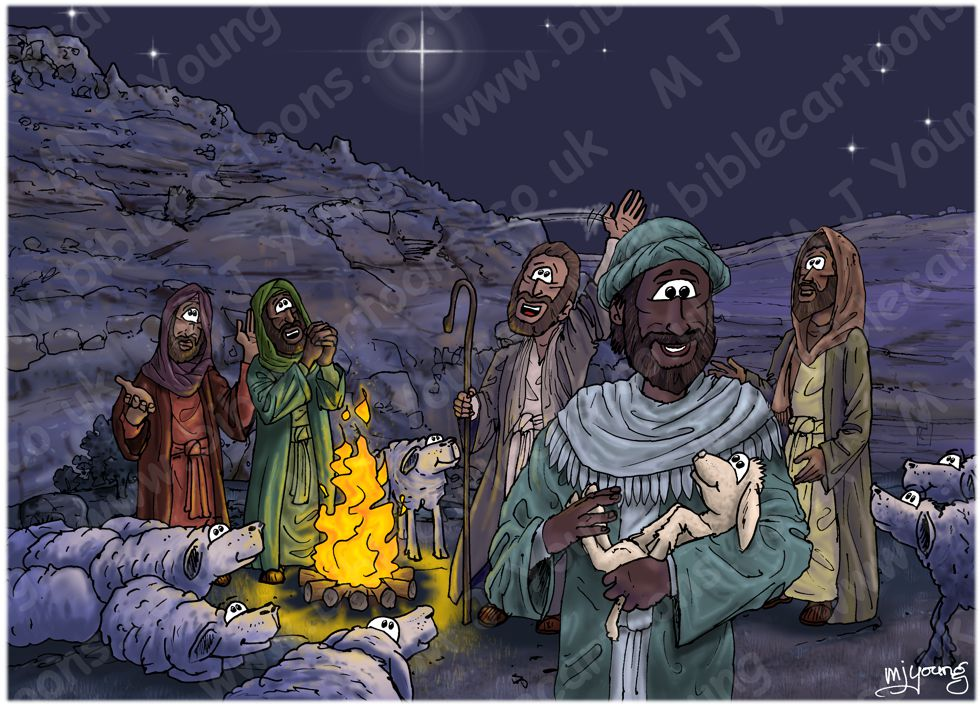 Luke 02 - Nativity SET02 - Scene 10 - Shepherds praising