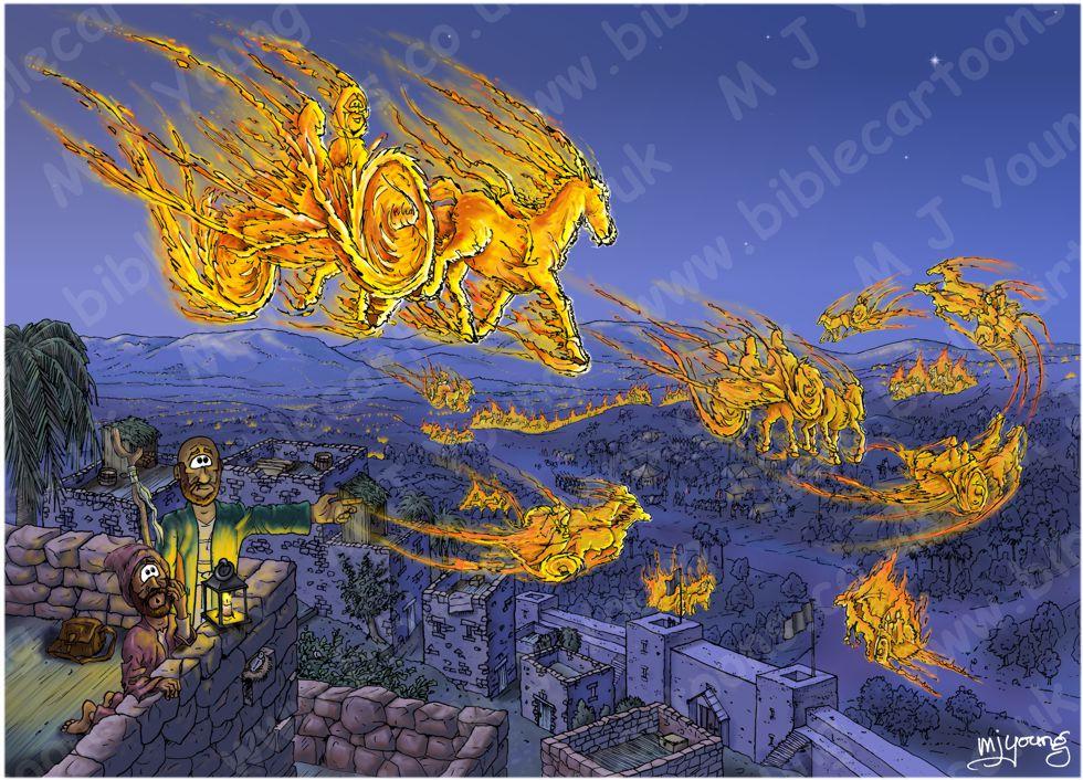 2 Kings 06 - Chariots of fire - Scene 02 - Fiery army
