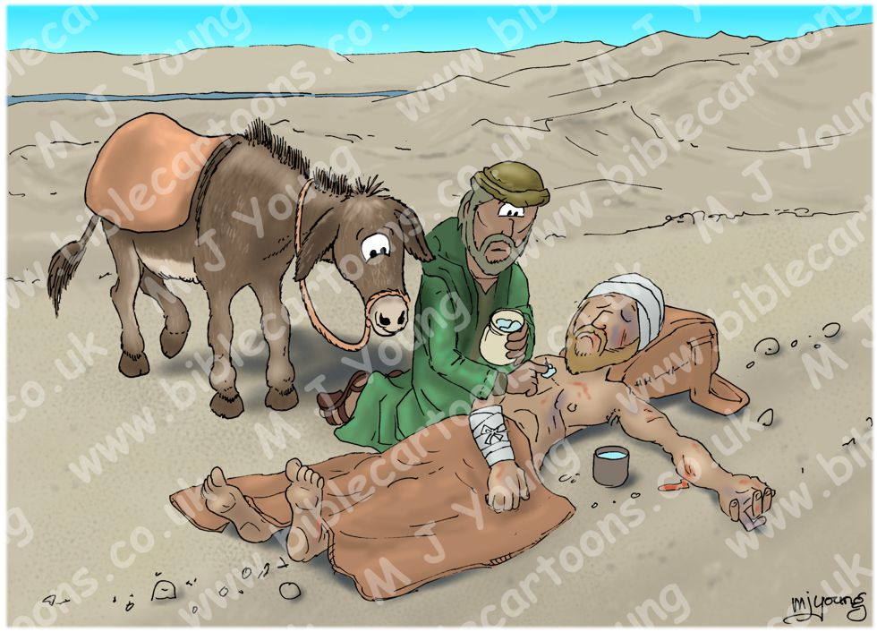 Luke 10 - Parable of the good Samaritan SET01 - Scene 03 - Samaritan