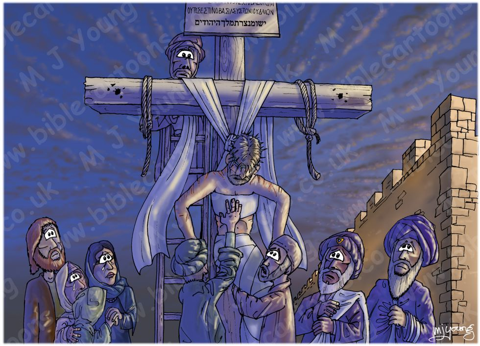 Mark 15 - Burial of Jesus - Scene 02 - Lowered from the cross (Shadow version)