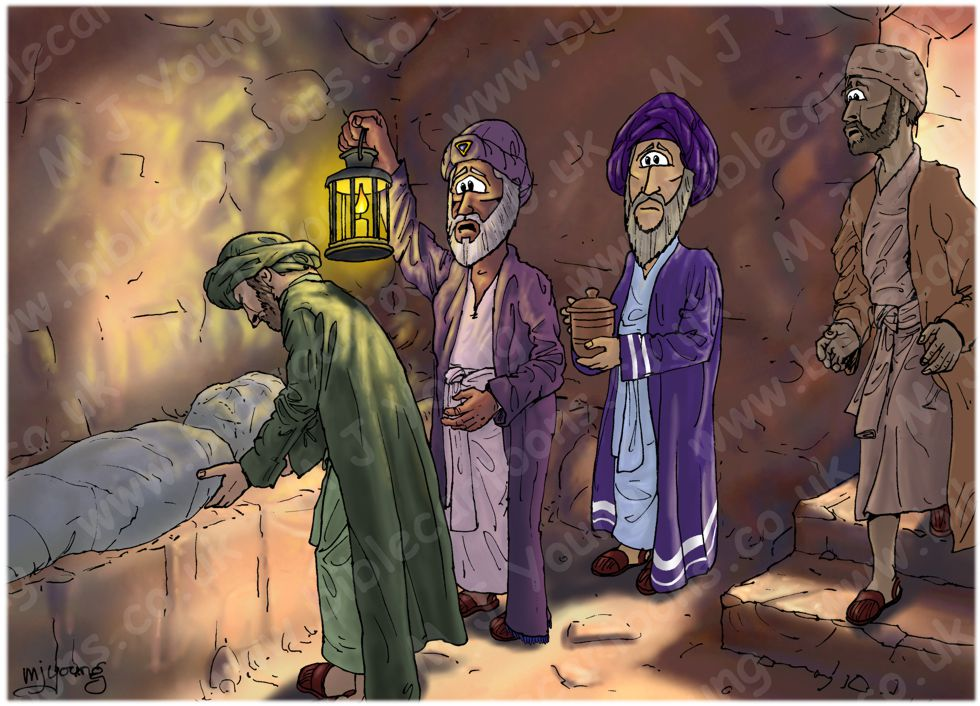 Mark 15 - Burial of Jesus - Scene 04 - Laid in the tomb (Light version)