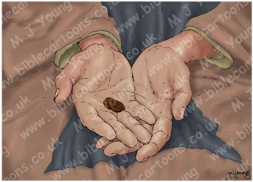Mark 12 - The widow's offering - Scene 03 - great gift
