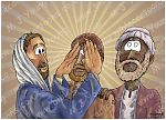 Matthew 09 - Jesus heals by faith - Scene 08 - Sight restored
