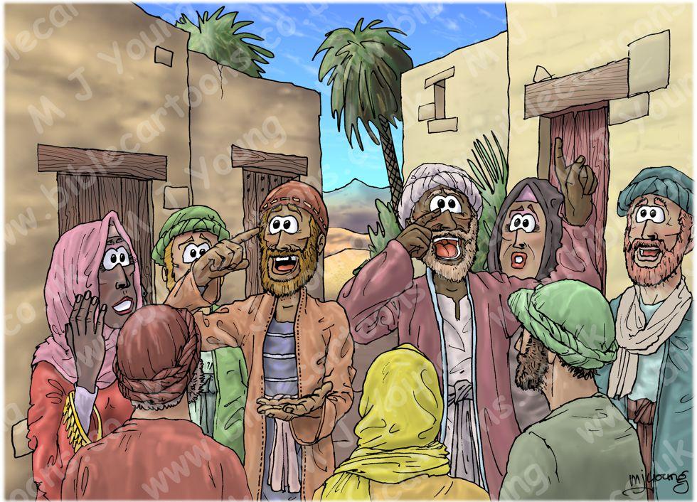 Matthew 09 - Jesus heals by faith - Scene 10 - Miracle gossiped