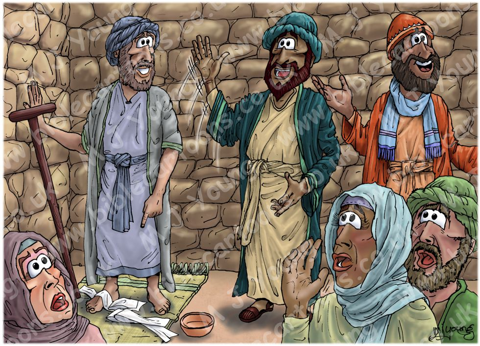 Acts 14 - Paul and Barnabas in Lystra and Derbe - Scene 01 - Cripple healed