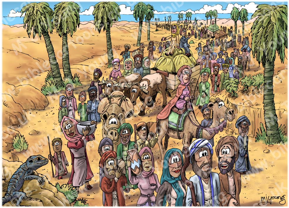 Exodus 12 - Exodus begins - Scene 05 - Walking out of Egypt