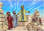 Haggai 01 - Call to Rebuild Temple - Scene 03 - Temple work begins 980x706px col.jpg