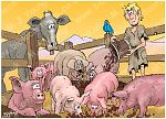 Luke 15 - Prodigal Son - Scene 03 - With the pigs