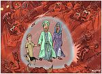 2 Thessalonians 03 - Exhortations - Scene 01 - Believer's protection 980x706px col.jpg