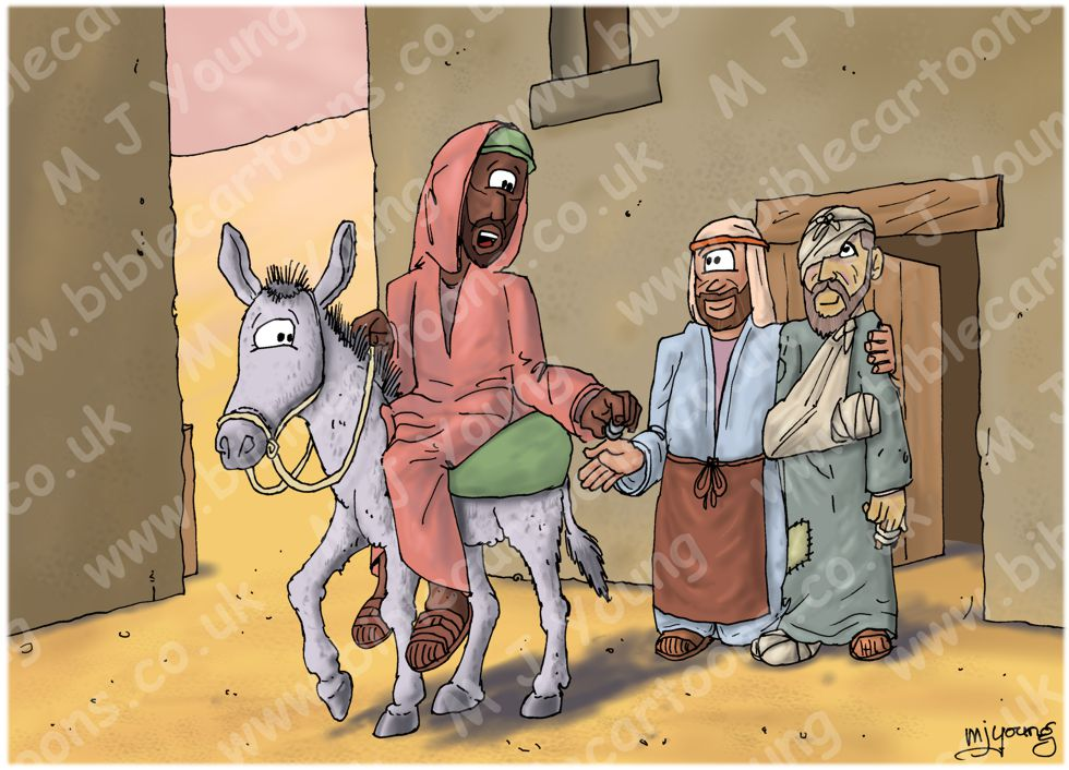 Luke 10 - Parable of the good Samaritan SET02 - Scene 05 - Parting