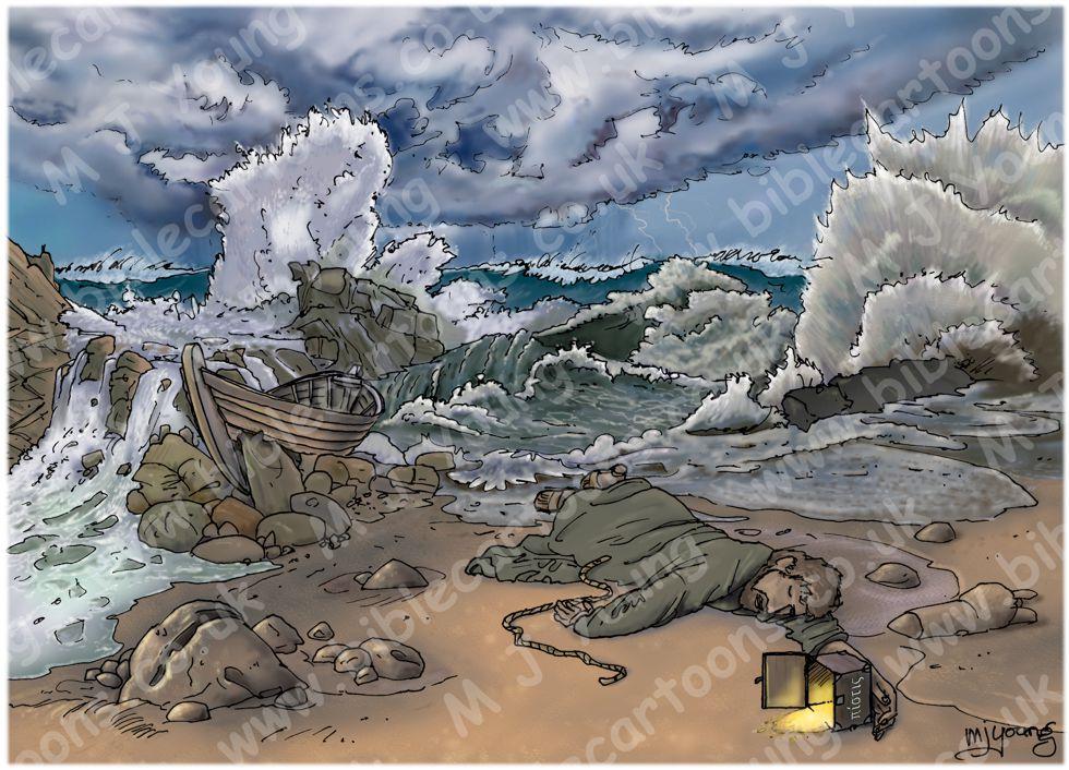 1 Timothy 01 - False teacher warning - Scene 04 - Shipwrecked faith