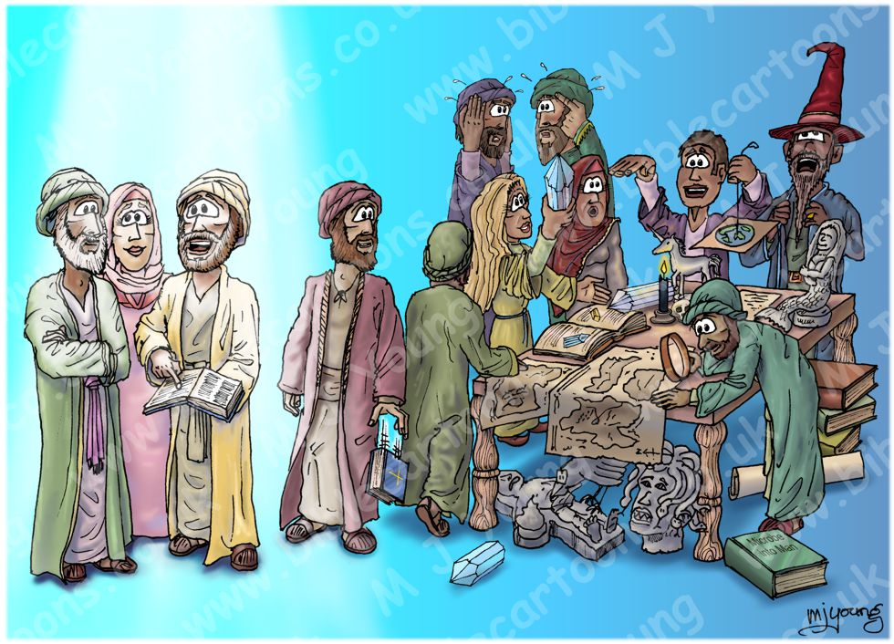 2 Timothy 04 - Faithful Preaching - Scene 03 - Turning to myths  (Light version) 980x706px col.jpg