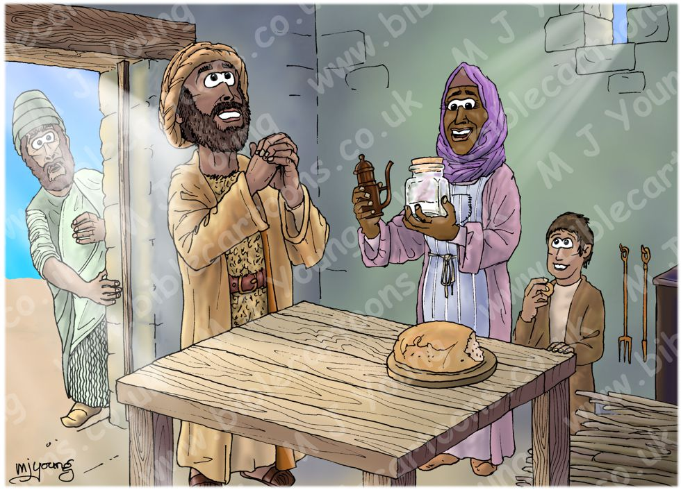 1 Kings 17 - Widow of Zarephath - Scene 03 - Miracle food