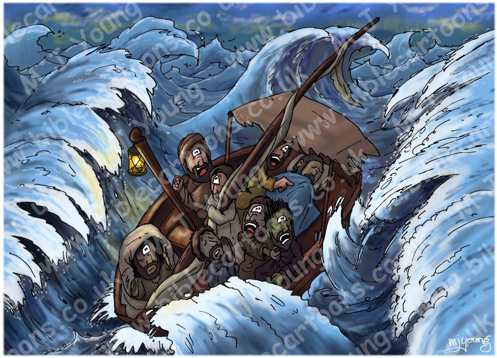 Mark 04 - Jesus calms a storm - Scene 03 - Jesus sleeps (Light version)