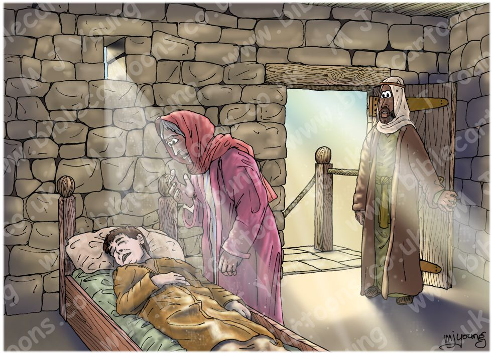 2 Kings 04 - Shunammite's son resurrected - Scene 06 - Son dies